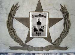 Insignia on Burial Tomb of Bowie, Crockett and Travis at San Fernando Cathedral in San Antonio