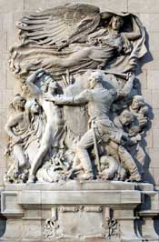 Battle of Fort Dearborn Defense Scupture
