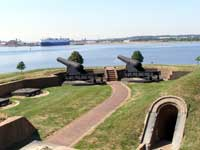 Fort McHenry - Cannons Overlooking Patapsco River